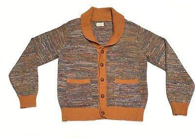 Jachs Cardigan L Sweater Brown Gold Work Career Casual School Fall NWT Outerwear