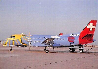 CROSSAIR AG Saab 340A HB-AHD c/n 018  Airplane Postcard for sale  Shipping to Canada