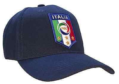 Italia Soccer Hat Italy FIGC Italian Football Club Blue Ball Cap