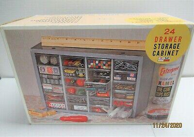 Vintage Akro Mils Metal 24 Drawer Cabinet Organizer Storage Box Bins New In Box