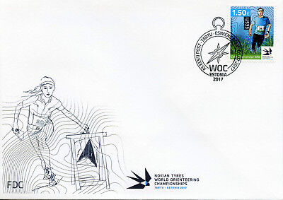 Estonia 2017 FDC WOC World Orienteering Championships 1v Set Cover Sports Stamps