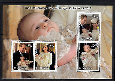 Gambia 2014 MNH Christening Prince George 4v M/S William & Kate Royalty Stamps