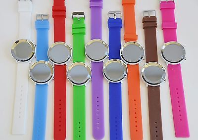 New Weida Silicone Led Digital Large Dial White Case Mirror Dial Watch Xl 225