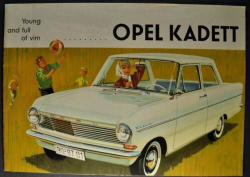 1962 Opel Kadett Sedan Catalog Sales Brochure Excellent Original 62