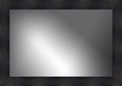 Wall Mirror, Rectangle, Black Frame, Size 30x40