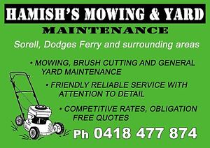 Hamish's Mowing and Yard Maintenance Dodges Ferry Sorell Area Preview