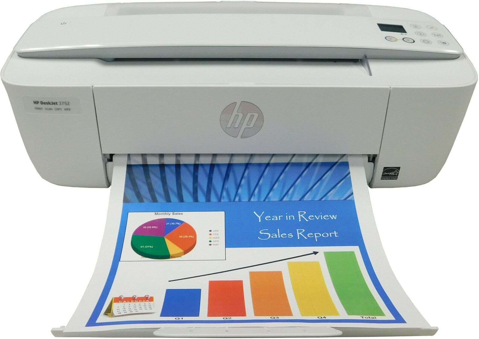 Refurbished HP DeskJet 3752 Wireless All-in-One Compact Prin