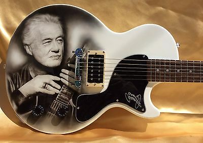 Led Zeppelin Jimmy Page Signed Autographed Guitar (Beckett Certified)