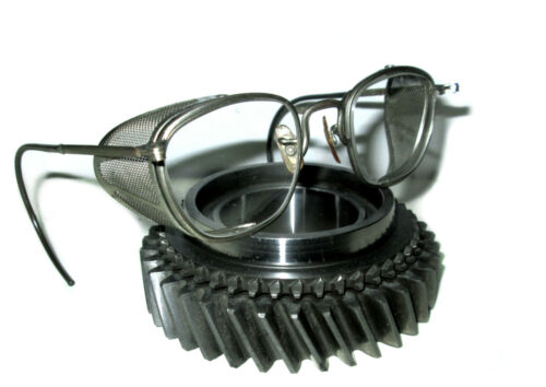 Antique American Optical Mesh Goggles Safety Glasses Vtg Cool Old AO Spectacles
