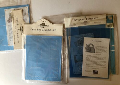 Personal Stamp Exchange Box & Envelope Template Kits Lot of 3