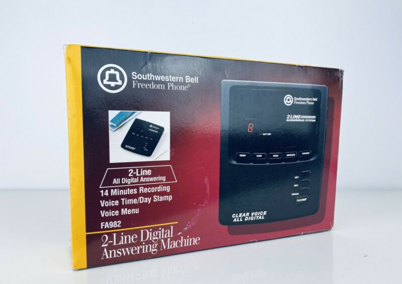Southwestern Bell Freedom Phone (FA982) 2-Line Digital Answering Machine NEW