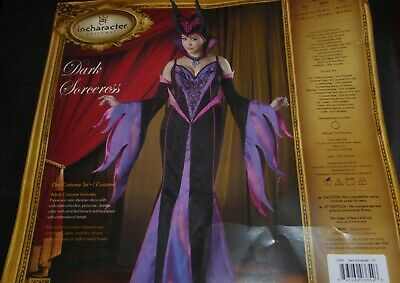 3x Halloween Costume Womens (HALLOWEEN WOMENS IN CHARACTER COSTUME DARK SORCERESS 6- PIECE SET SIZE 3X)