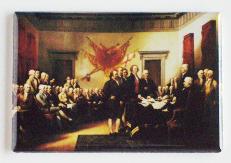 Declaration of Independence FRIDGE MAGNET john trumbull painting signing