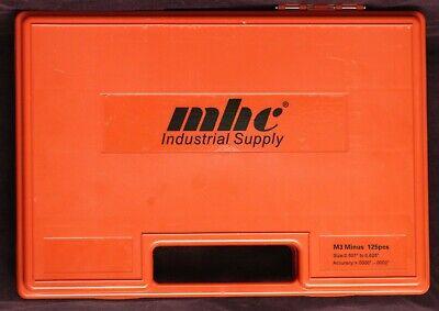 Mhc Pin Gage Set M3 Minus 125pcs Size 0.501 - 0.625