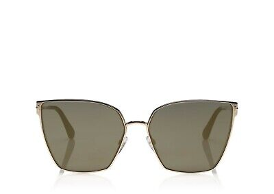 Tom Ford HELENA FT 0653 Shiny Rose Gold/Grey With Gold Mirror (28C) (Tom Ford Rose Gold)