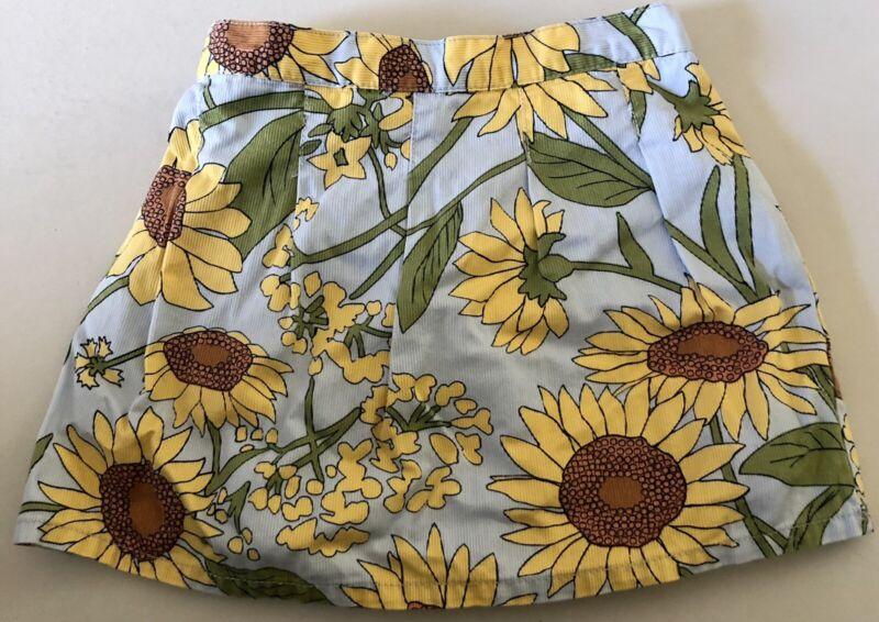 Gymboree Sunflower Fields Blue Skirt Skort 3