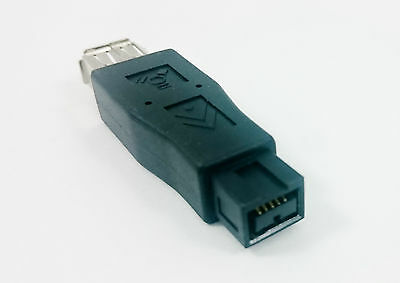 FireWire 400/800 6-Pin Female to 9-Pin Male IEEE1394a 1394b Adapter Converter