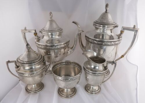 Frank Whiting Company 708 Sterling Silver Tea & Coffee Set 5 Piece 2264g