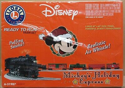 Lionel 31987 Mickey's Holiday Express Christmas Train Set - O-Gauge FAC SEALED!