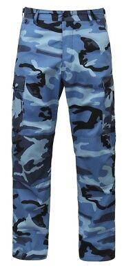 Fatigue BDU Pants Sky Blue Camo Military Cargo Polyester/Cotton  Bdu Sky Blue Camo