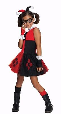 Halloween City Costumes For Girls (Child Harley Quinn Tutu Cosplay Batman Arkham City Gotham Costume)