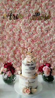Flower wall backdrops for hire