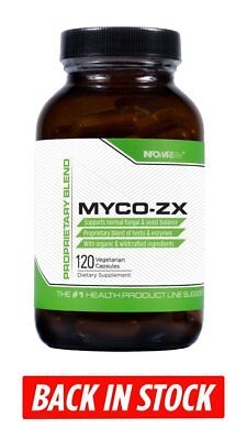 Infowars Life  Myco Zx  120 Capsules    Naturally Support Fungal   Yeast Balance