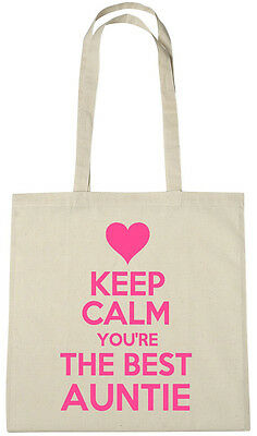 Keep Calm Best Auntie Bag, Gift ideas xmas christmas birthday gifts for aunty Birthday Gift Bag Ideas