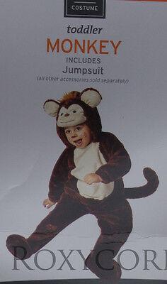 Halloween Toddler Brown Monkey Jumpsuit Plush Costume Size 18-24 Months - Monkey Halloween Costume Toddler