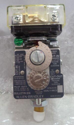 304-1138 Allen-Bradley L Refrigeration Pressure Control Device, p/n 836AL11-NKCS