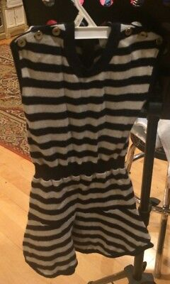 High End Girl Clothes (Kid by Phillip Lim Girls Dress Size 5 Black & White Stripe High End)