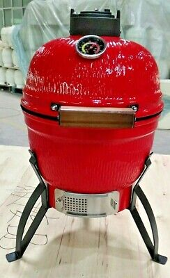 "Super Grills 13""Ceramic Kamado  BBQ Grill, Smoker Oven Charcoal barbecue red"
