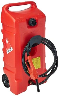 DuraMax Flo n' Go LE Fluid Transfer Pump and 14-Gallon Rolling Gas Can, New