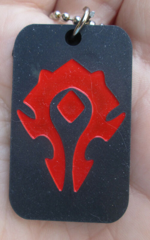 World of Warcraft Horde  Alliance Inspired Dog Tag Necklace