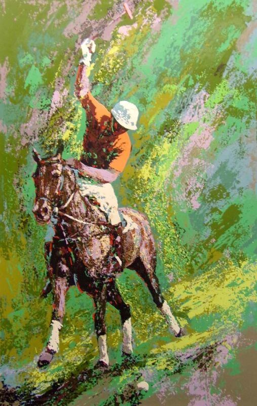 "Mark King ""polo"" Horse Hand Signed Serigraph Le Art Submit Your Offer!"