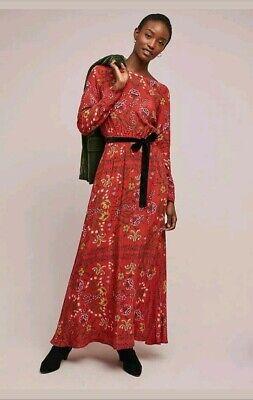 NWT $228.00 Anthropologie Roberta Floral Maxi Dress by LAIA Sz. Medium Gorgeous!
