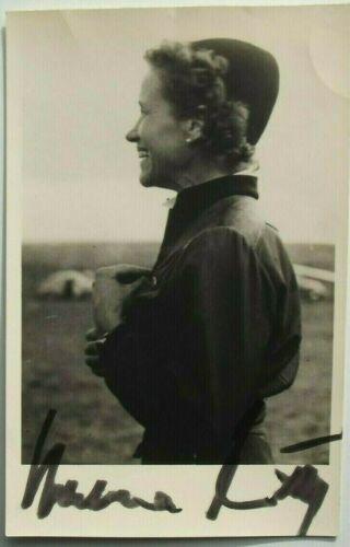 Hanna Reitsch German Aviation Pioneer 1st Female Test Pilot Autograph