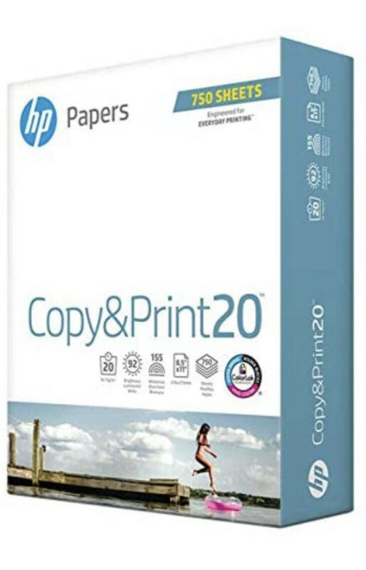 HP Printer Paper 8.5x11 Copy&Print 20 lb 1 Bulk Pack 750 Sheets