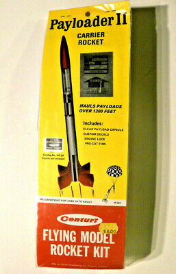 Centuri PAYLOADER ll, payload carrying rocket, Vintage 1965 to 1981, UNOPENED