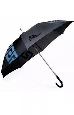 BRAND NEW VERSACE MEDUSA Executive Unisex Large Umbrella Blue Black Silver .