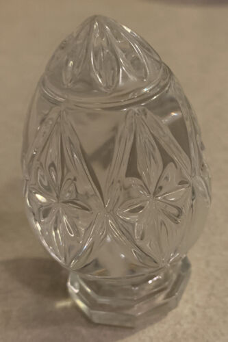 Bleikristall EGG PAPERWEIGHT 24 Lead Crystal W/ Made In Germany Makers Sticker - $10.50