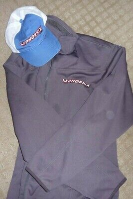 Phoenix Boats Performance Fleece Jacket Coat and Hat  XL Grey, used for sale  Shipping to South Africa