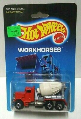 1986 Hot Wheels Workhorses Peterbilt Cement Truck #1169 HTF