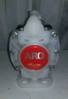 "Used ARO 1/4"" Poly/Teflon Pump, PD01P-HKS-KTT-A"