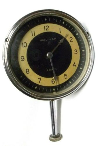 Vintage 1920`s-30`s Waltham 8 Day Car/Automobile Clock, WORKS GREAT !