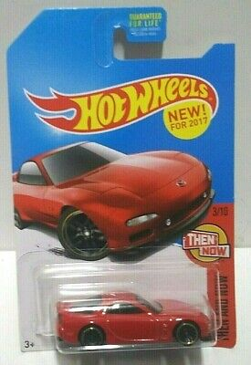 2017 Hot Wheels Then and Now '95 Mazda RX-7 Red KMart HTF