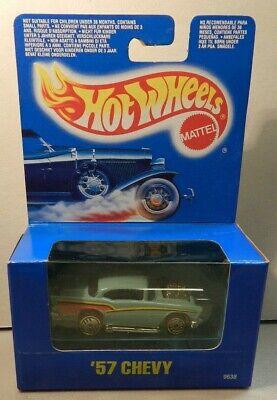 Hot Wheels '57 Chevy - Aqua - UH - #9638 - International Box