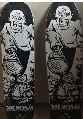 Breakdown NYHC Skateboard Deck Running Scared LP art Raw Deal SOIA Cro-Mags