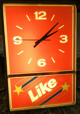 """Vintage """"Like"""" Cola from 7 Up Company Lighted Clock 1983"""