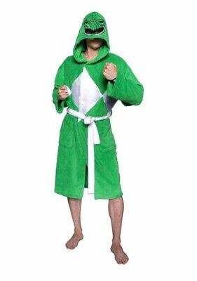 Power Ranger Costume Green (Power Rangers Green Ranger Costume Hooded Bath Robe Fleece)
